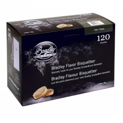 Brikety na údenie Bradley Smoker Dub 120 ks