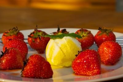 Grilované jahody