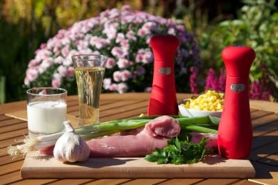 Grilovaná bravčová panenka s kukuricou
